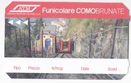 Italy , Como , Funicolare  Ticket  , ATM , 2017 , Used - Transportation Tickets