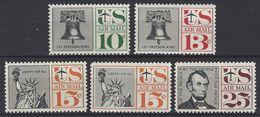 Estados Unidos Aereo 056/60 ** MNH. 1959 - Air Mail