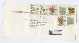 1983 REGISTERED Air Mail MALAYSIA COVER Stamps To GB Malaya - Malaysia (1964-...)