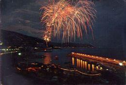 Bordighera - Imperia - Fuochi D'artificio Alla Festa Di S.ampelio - 42973 - Formato Grande Viaggiata – E 3 - Imperia