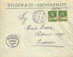 "Motiv Brief  ""Studer, Escholzmatt"" - Mesocco              1925 - Schweiz"