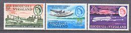 RHODESIA & NYASALAND  180-2   *  AERO - Rhodesia & Nyasaland (1954-1963)