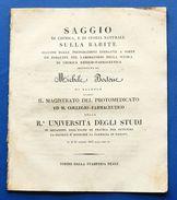 M. Bertone - Farmacia Saggio Di Chimica E Di Storia Naturale Sulla Barite - 1823 - Libri, Riviste, Fumetti