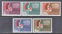MALDIVES  124-8    **   RED  CROSS  RED  CRESENT - Maldives (...-1965)