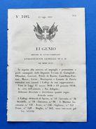 Regno Di Sardegna Regio Decreto Convocazione Vari Collegi Elettorali - 1859 - Vecchi Documenti