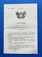 Regno Di Sardegna - Regio Decreto Pubblici Funzionari Infradesignati -  1859 - Old Paper
