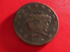 Etats-Unis - USA - One Cent 1828 - Coin Brisé Sur La Coiffe - Rare Error Fauté 5746 - 1816-1839: Coronet Head (Testa Coronata