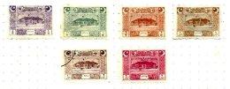 TURKEY, Yv 662/67, */o M/U, F/VF, Cat. € 40 - 1921-... République