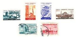 TURKEY, Yv 1244, 1253, 1256/59, */o M/U, F/VF - 1921-... République