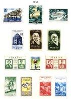 TURKEY, Yv 1281, 1284, 1286/92, 1294/96, * MLH, F/VF, Cat. € 26 - 1921-... République