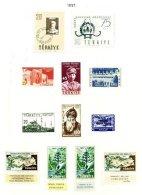 TURKEY, Yv 1324/26, 1329/35, * MLH, F/VF - 1921-... République