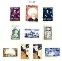 TURKEY, Yv 1336/40, 1391/92, 1407/09, * MLH, F/VF - 1921-... République