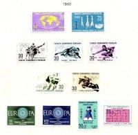 TURKEY, Yv 1560/70, * MLH, F/VF - 1921-... Republic