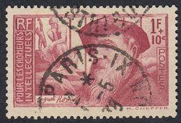 FRANCE Francia Frankreich - 1938 - Yvert 384 Obliterato, 1 F + 10 Cent, Carminio. - Gebraucht