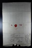 Belgium  1708 Complete Letter  Tpo Antwerp Waxsealed - 1621-1713 (Países Bajos Españoles)