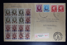 Belgium Registered Cover Brussels To Lucern Switserland    Mixed Stamps. - België