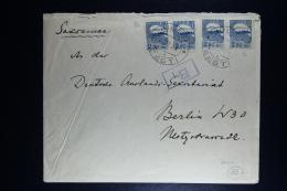 Estland  Cover Hiltsi To Berlin  1921 2 X Strip - Estonie