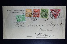 Lettland Latvia Airmail Cover Riga To Antwerp 1932 Mixed Stamps - Lettland