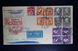 Denmark : Zeppelin Zuleitungspost 15-6-936 Silkeborg  R-Brief 3e Nordamerika-fahrt St. Paul USA Ziegler 417 - 1913-47 (Christian X)