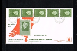 1981 - Netherlands FDC W40T5 - Famous People - Royalty - Queen Juliana 1 Gld Coilstamp (5 Strip) [VZ005_10] - FDC