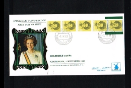 1982 - Netherlands FDC W59T5 - Famous People - Royalty - Queen Beatrix 2Gld Coilstamp (5 Strip) [VZ005_22] - FDC