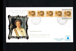 1986 - Netherlands FDC W70T5 - Famous People - Royalty - Queen Beatrix 2,50 Gld Coilstamp (5 Strip) [VZ005_30] - FDC