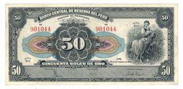 Peru 50 Soles, 1950, XF. - Peru