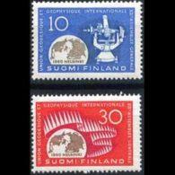 FINLAND 1960 - Scott# 373-4 Geodesy Set Of 2 MNH - Nuovi