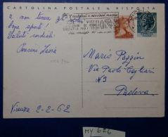 INTERO POSTALE 1962 LIRE 20+5 TIMBRO AITATECI A SERVIRCI MEGLIO (MY626 - 6. 1946-.. Republik