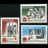 FINLAND 1970 - Scott# B188-90 Kivi Novel Set Of 3 MNH - Nuovi