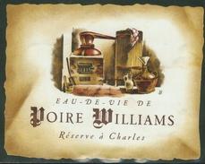 Rare // Etiquette//  Eau De Vie De Poire Williams,Réserve à Charles Suisse - Fruits & Vegetables