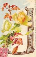 Alphabet Illustré: Lettre J Avec Roses - Carte Suisse Dos Simple - Autres