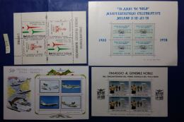 LOTTO 4 FOGLIETTI ERINNOFILI TEMATICA AEREO (MY757 - Commemorative Labels