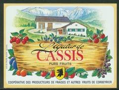 Rare // Etiquette // Liqueur De Cassis,Coopérative Des Producteurs, Corbeyrier,Vaud, Suisse - Fruits & Vegetables