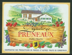 Rare // Etiquette // Liqueur De Pruneaux,Coopérative Des Producteurs, Corbeyrier,Vaud, Suisse - Fruit En Groenten