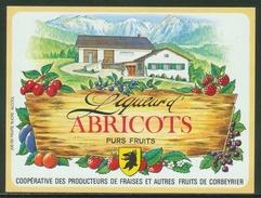 Rare // Etiquette // Liqueur D'Abricots,Coopérative Des Producteurs, Corbeyrier,Vaud, Suisse - Fruits & Vegetables