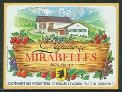 Rare // Etiquette // Liqueur De Mirabelles,Coopérative Des Producteurs, Corbeyrier,Vaud, Suisse - Fruits & Vegetables