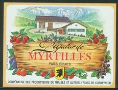 Rare // Etiquette // Liqueur De Myrtilles,Coopérative Des Producteurs, Corbeyrier,Vaud, Suisse - Fruit En Groenten