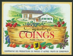 Rare // Etiquette // Liqueur De Coings,Coopérative Des Producteurs, Corbeyrier,Vaud, Suisse - Fruits & Vegetables