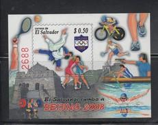 El Salvador MNH Sheet 2008 Olympics Games Beijing Swin Bicycle Tennis Scott 1682 - Summer 2008: Beijing