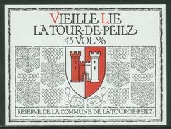 Rare // Etiquette //  Vieille Lie,Réserve De La Commune De La Tour-de-Peilz, Vaud, Suisse - Autres