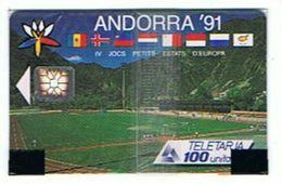 CARTE NEUVE SOUS BLISTER ANDORRA 91 TELETARIA 100 UNITES      ***   A   SAISIR **** - Andorra