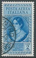 1932 REGNO POSTA AEREA USATO GARIBALDI 2 LIRE - A35 - 1900-44 Vittorio Emanuele III