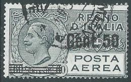 1927 REGNO POSTA AEREA USATO SOPRASTAMPATO 50 SU 60 CENT - A8 - Poste Aérienne