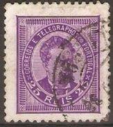 PORTUGAL - 1882 KING LUIS 25r DEEP MAUVE USED - 1862-1884 : D.Luiz I