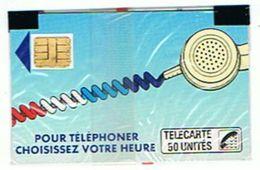 CARTE NEUVE SOUS BLISTER  POUR TELEPHONER CHOISISSEZ VOTRE HEURE  50 UNITES      ***  SAISIR *** - Publicité