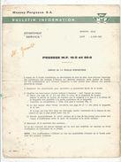 Bulletin D'information , 1966 , MASSEY FERGUSON , Presse , Matériel Agricole , 2 Pages , 2 Scans  , Frais Fr 1.45 E - Advertising