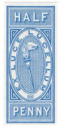 (I.B) QV Revenue : Match Tax ½d - 1840-1901 (Victoria)