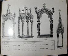 BRONZES ET ORFEVRERIE ART RELIGIEUX EXPOSITION STATUE TABERNACLE PALMES  ANTIQUITAIRE BROCANTEUR DOCUMENTATION VERS 1925 - France