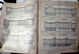 SERRURERIE GRILLAGES CLOTURES TONNELLES MARQUISES PERSIENNES TONNELLES  CATALOGUE THIOLON VERS 1900  36 PAGES - Francia